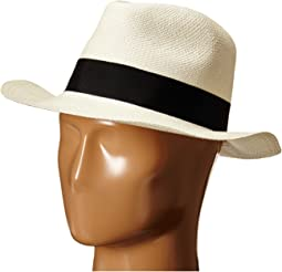 3cc440e8a07 Hat attack classic fedora with grosgrain ribbon and leather loop ...