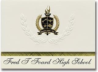 Signature-Announcements Frot T Foard High School (Newton, (Newton, (Newton, NC) Abschlussankündigungen, Präsidential-Stil, Elite-Paket mit 25 Goldfarbenen und schwarzen Metallfolienversiegelungen B078VD8NK3  Moderne und elegante Mode 161b61