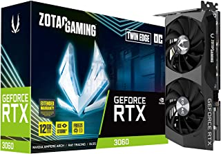 ZOTAC Gaming GeForce RTX 3060 Twin Edge OC 12GB GDDR6 192-bit 15 Gbps PCIE 4.0 Gaming Graphics Card, IceStorm 2.0 Cooling,...