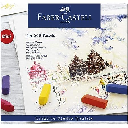 ファーバーカステル ソフトパステル 46色・48本セット 紙箱 128248 [日本正規品]