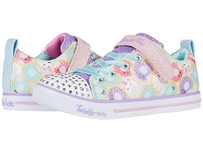 SKECHERS KIDS Twinkle Toes Sparkle Lite 314755L (Little Kid/Big Kid) (White/Multi) Girl