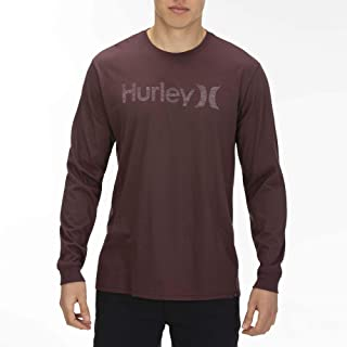 Hurley Men's One & Only Push Thru Graphic Long Sleeve Tee Shirt