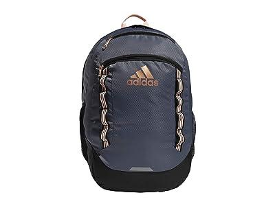 adidas Excel V Backpack (Onix/Black/Haze Coral/Rose Gold) Backpack Bags