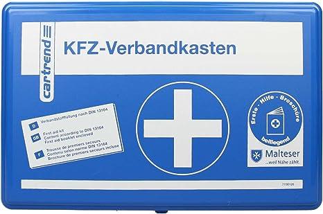 Cartrend 7700126 Verbandkasten Classic Mit Malteser Erste Hilfe Sofortmaßnahmen Din 13164 Blau Auto