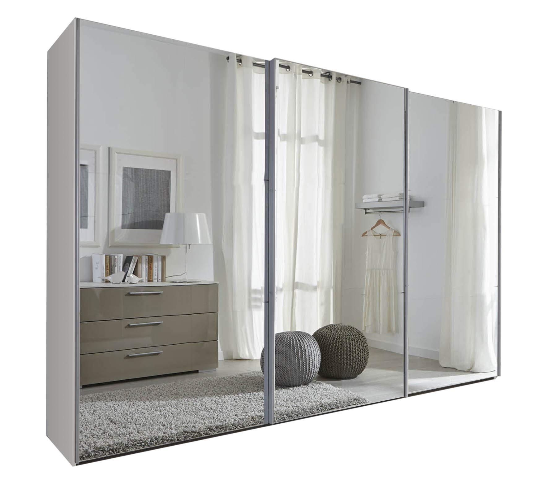 Sliding Robe Blanco Puerta KOMET: Espejo Puerta corredera Armario – 301 cm de Ancho – alemán Hecho Muebles de Dormitorio: Amazon.es: Hogar
