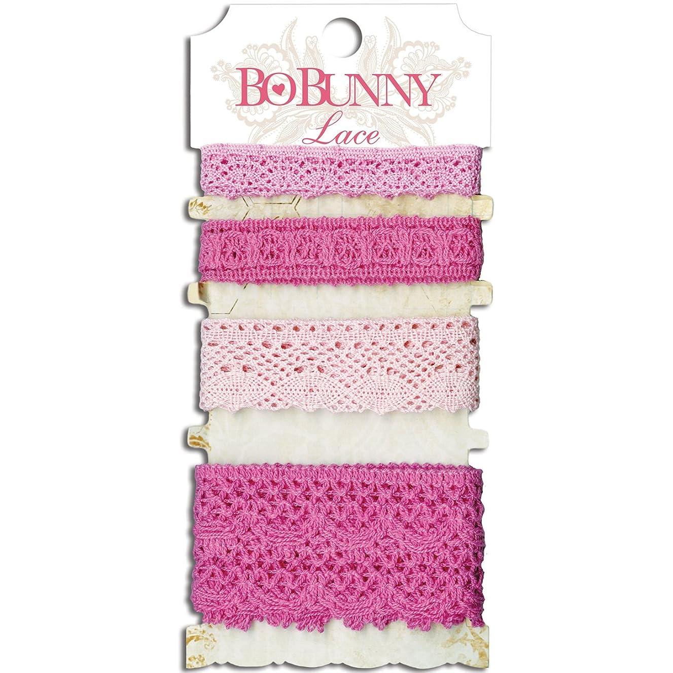 Bo Bunny Lace Trim 4 Styles 2.25yds-Blush