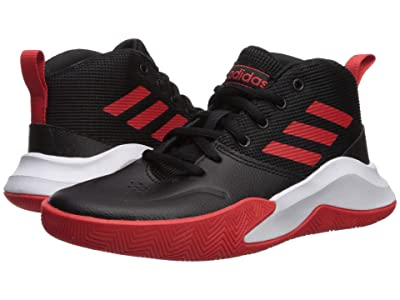 adidas Kids Own The Game Wide Basketball (Little Kid/Big Kid) (Black/Red/White) Kids Shoes