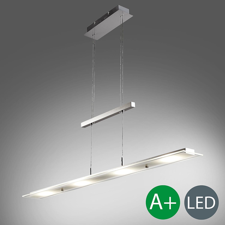 LED Pendelleuchte inkl. 18W 1600lm hhenverstellbar Platine, Esstischleuchte, 3000K warmwei, IP20 Echtglas