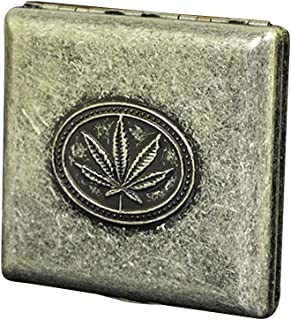 Cig-U Copper Cigarette Case/Box/Holder – Double Sided Flip Open Pocket Tobacco Storage Case – Hold 20 King Sized Cigarettes