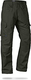 Men's Water Resistant Operator Tactical Pant with Elastic Waistband