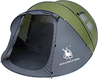 HUI LINGYANG 4-6 Person Easy Pop Up Tent-Automatic Setup,...