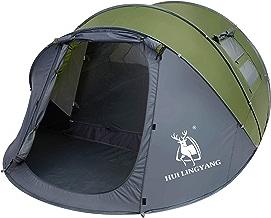 HUI LINGYANG 4-6 Person Easy Pop Up Tent-Automatic Setup,...