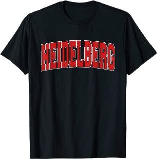 HEIDELBERG GERMANY Varsity Style Vintage Retro German Sports T-Shirt