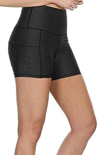 icyzone Workout Running Shorts Women - Yoga Exercise Athletic Shorts Capris