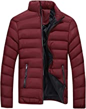 Men's Winter Warm Jacket Thicken Outerwear Solid Lightweight Water Resistant Coat