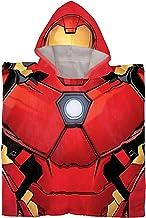 Jay Franco Marvel Avengers Iron Man Kids Bath/Pool/Beach Hooded Poncho - Super Soft & Absorbent Cotton Towel, Measures 28 ...