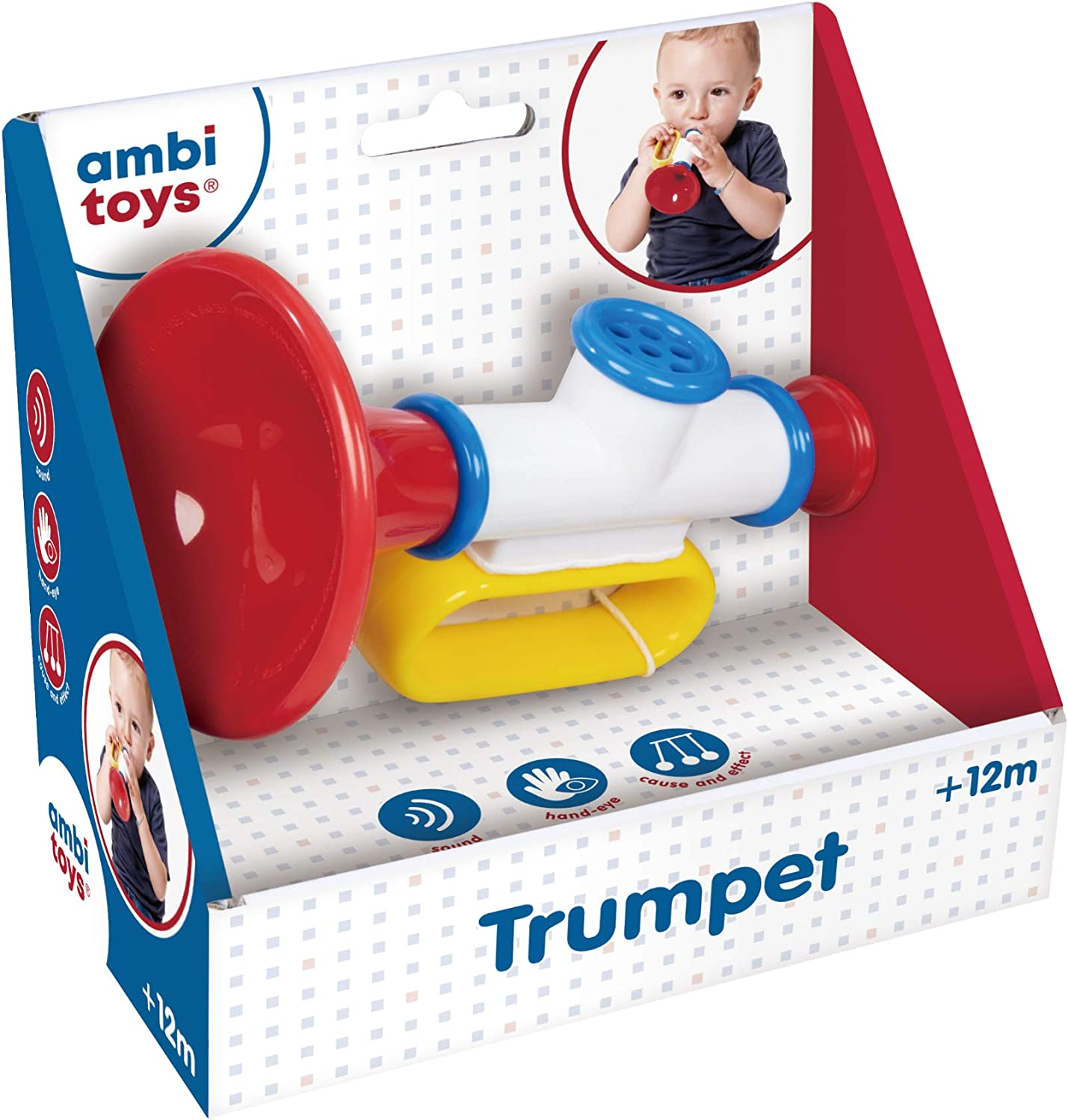 Ambi Toys, Trumpet, Musical Baby Toys, Ages 12 months+