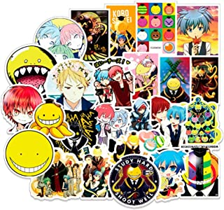 Bowinr Assassination Classroom Car Stickers, Anime Bumper Sticker for Phone, Laptop, Car, Lugguage, Skateboard and More