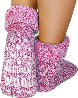 dunaro, 1 – 2 pares de calcetines antideslizantes de lana ABS para hombre y mujer