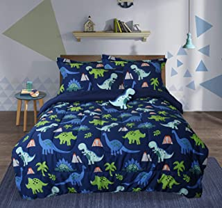 Sponsored Ad - Dinosaur Twin Size Comforter Sets for Boys, 5 Pieces Bed in a Bag, Durable Quilted Children Duvet Bedding S...