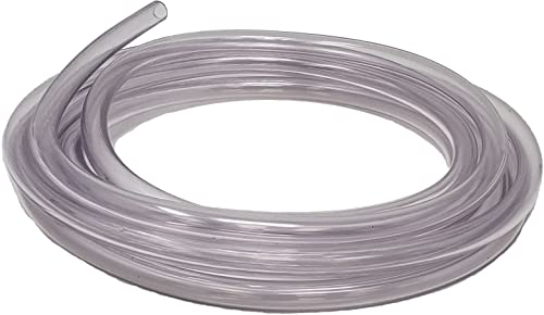 Rollerflex Food Grade Crystal Clear Vinyl Tubing, 1/4-Inch ID x 3/8-Inch OD, 10-FT, Made in USA