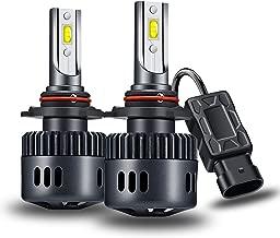 Yosaky 9012 LED Headlight Bulbs 6000K 6000LM HIR2 Headlight Bulb Conversion Kit