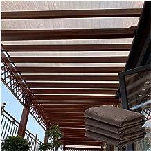 Sunblock schaduwdoek, bruin gecodeerde dikke zonnebrandcrème warmte-isolatienet, outdoor patio plantenonderdak, ventilatie...