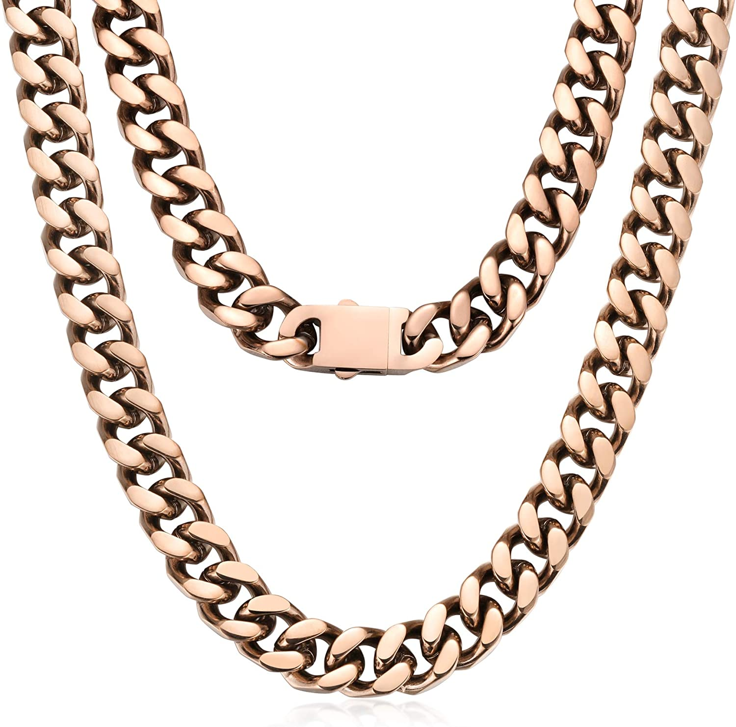 ROWINCO Mens Chain Heavy Thick Al sold out. Stainless New York Mall Steel 316L Choker Chai