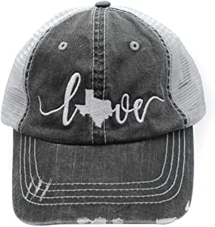 distressed texas hat