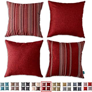 """NEW 17/"""" X 17/"""" CUSHION COVER CIRCLE RED BROWN PURPLE GREY QUALITY ~ FREE P/&P !!"""