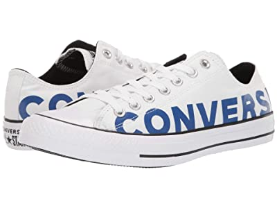 Converse Chuck Taylor All Star Wordmark 2.0 Ox (White/Blue/White) Shoes
