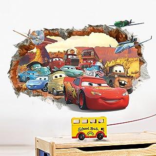 Car General Mobilization 3d Broken Wall Childrens Bedroom Wall Stickers