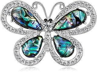 FOPUYTQABG Broche de aleación de los hombres de moda de diamantes de imitación de cristal en forma de lágrima roja exquisi...
