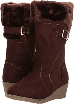 Suede Fur Topped Wedge Boot (Little Kid/Big Kid)