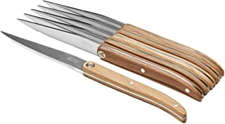 Laguiole Evolution 30050016 Coffret 6 Couteaux Steak Sens Lasuré Bois Clair