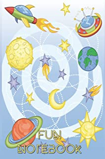 Fun Notebook: Boys Books - Mini Composition Notebook - Ages 6 -12 - Outer Space for Kids