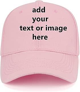 Men Women Custom Snapback Baseballl Caps with Your Text,Cotton Peak Hip Hop Hats