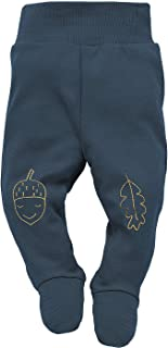 Pinokio Secret Forest - Baby Hosen Kinder Jungen Strampler Hose Neugeborene 100% Baumwolle Schlafhose Gelb Marineblau 56 62 68 74 cm