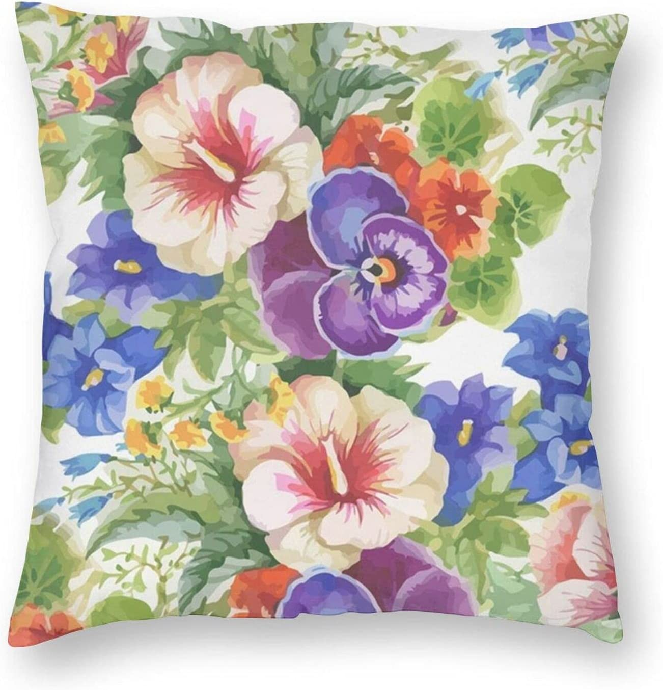 Ultra-Cheap Deals Beautiful Floral Lightweight Soft Square Pillow for Couc Max 84% OFF Inserts