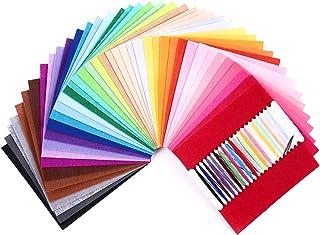 comprar comparacion SOLEDI Fieltro Manualidades Tela no Tejido de Lana 41 Colores, Material para Costura y Artesanías de Bricolaje (15*15cm)