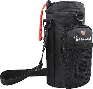Water Bottle Holder Carrier | Aluminum Insulated | Adjustable Shoulder/Waist Strap | Up to 40oz | Large Pockets | Gym Bag Alternative | Travel Fitness Gym Hiking Outdoor Enthusiasts