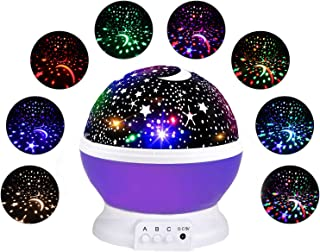Star Projection Light Gifts for 3-12 Year Old, Starry Light Lamp Rotating Moon Star Projector Night Lights for Children Gifts for Boys Girls Age 3-12 Novel Toys for Little Boys Girls Purple