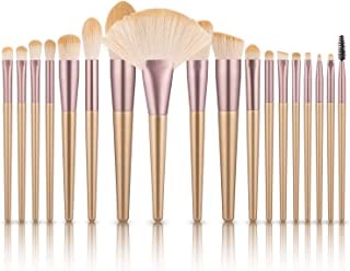 Makeup Brushes Set, Logiverl 18 Piece Makeup Brush Set Included Blush Foundation Powder Concealer Eyeshadow Eyebrow Lip Brush with Handle Wooden