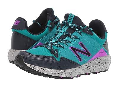 New Balance Kids Fresh Foam Crag v1 (Little Kid) (Neon Aqua Blue/Eclipse/Voltage Violet) Girls Shoes