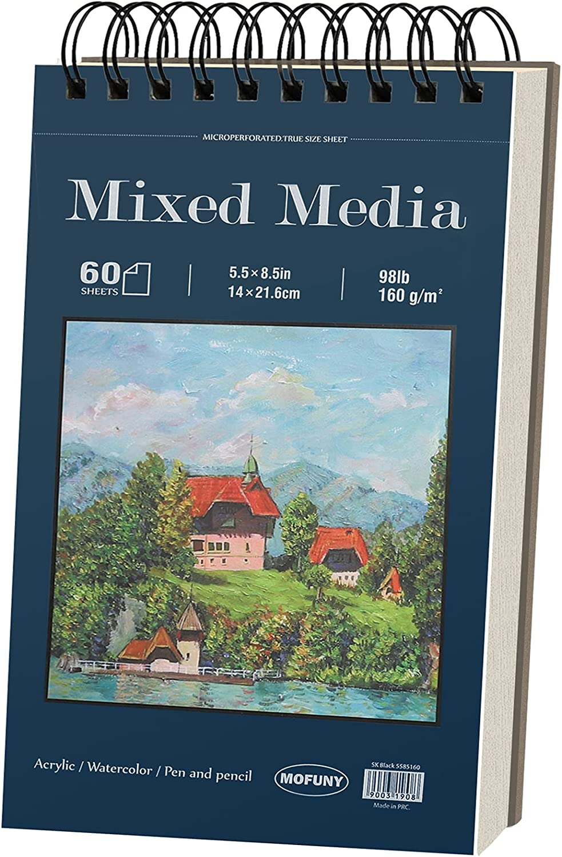 Mixed Media Sketchbook Award 5.5 x 8.5 Max 66% OFF 98lb Sheets inches 160gsm 60