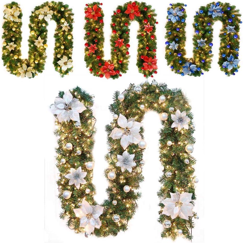 TDCQ Tannengirlande,Tannengirlande K/ünstlich Led,Tannengirlande mit Lichterkette,Tannengirlande,Girlande Tanne,Girlande