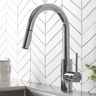 Kraus KPF-2620CH Modern Mateo Single Lever Pull Down Kitchen Faucet, Chrome