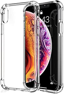 CELLBELL Anti Shock Case Cover for iPhone Xs(Transparent)