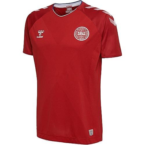 431dd743e52 Hummel Sport Hummel Danish National Soccer Team Short Sleeve Home Jersey
