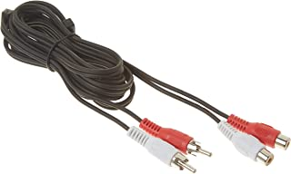 2 RCA Male to Female Audio Extension Cable 6 Feet (Red and White), CNE465390